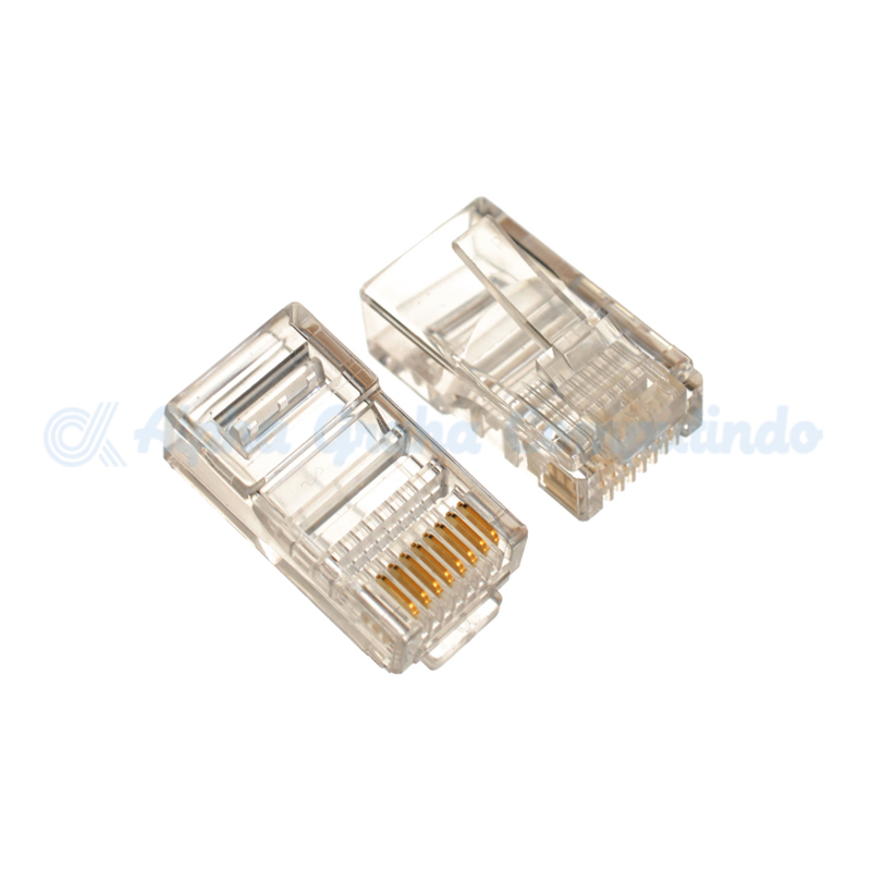 AMP  RJ-45 Connector Cat 5E-Transparan