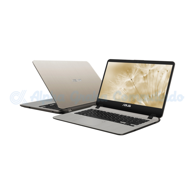 Asus  A407UA-BV391T i3-7020U 256GB 4GB Fingerprint [90NB0HP2-M05550/Win10] Icicle Gold