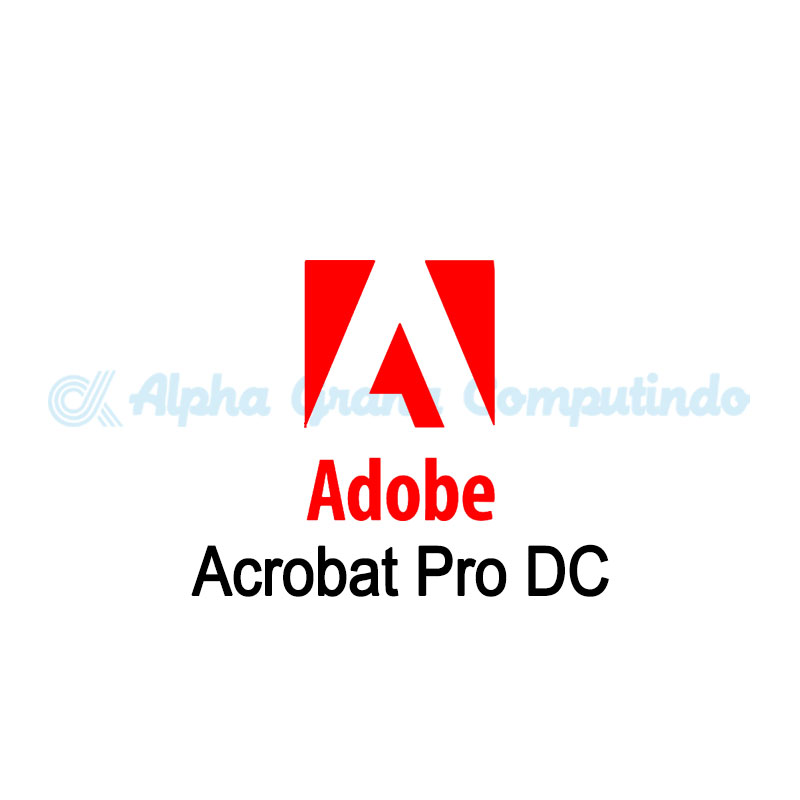 Adobe Acrobat Pro DC for teams Multiple Platforms -GOV- 1 Year Subscription Level 2 [65297932BC02A12]