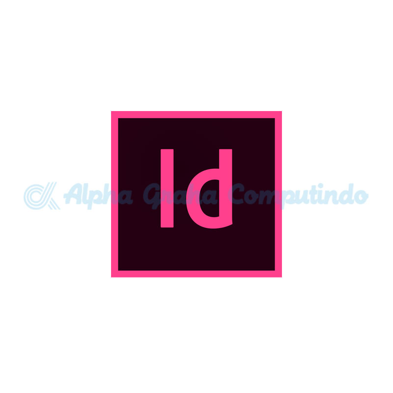 Adobe  InDesign CC for teams Multiple Platforms - 1 Year Subscription Level 1 - GOV [65297581BC01A12]