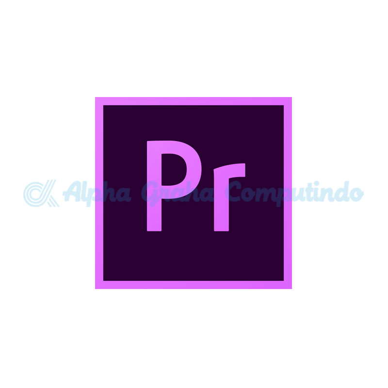 Adobe  Adobe Premiere Pro CC for teams Multiple Platforms- 1 Year Subscription Level 1- GOV [65297626BC01A12]