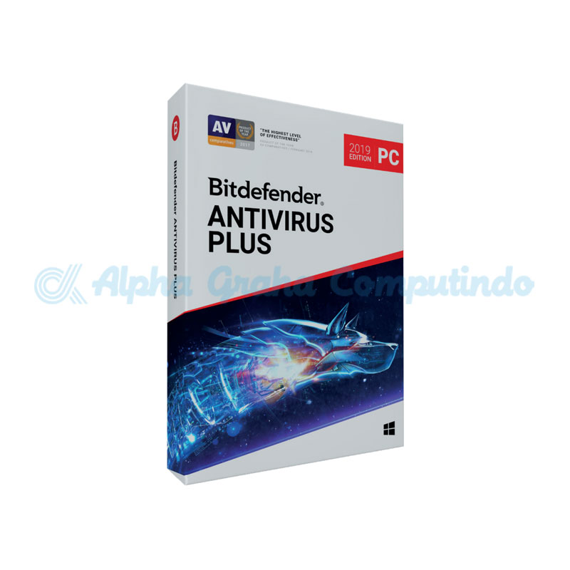 BITDEFENDER  Anti Virus Plus 1 device 1 year (1-24 Boxes)