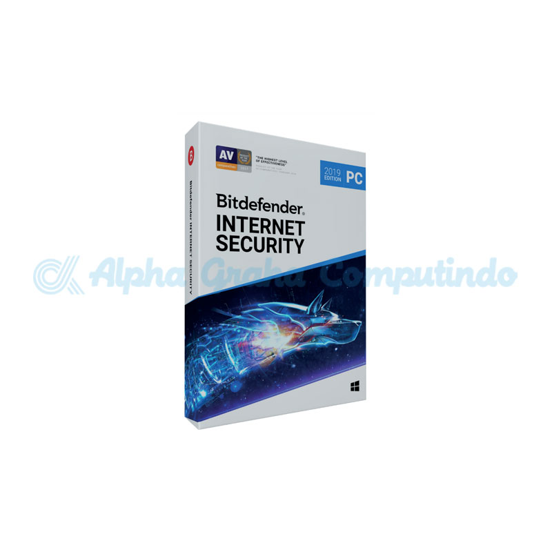 BITDEFENDER  Internet Security 3 device 1 year (1-24 Boxes)
