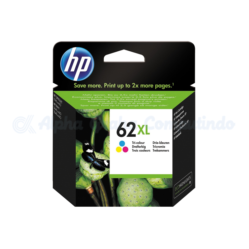 HP 62XL Tri-color Ink Cartridge [C2P07AA]