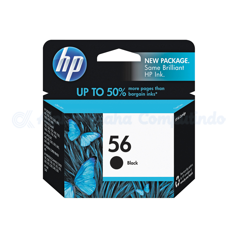HP 56 Black Ink Cartridge [C6656AA]