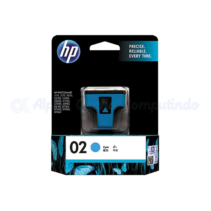 HP 02 AP Cyan Ink Cartridge [C8771WA]