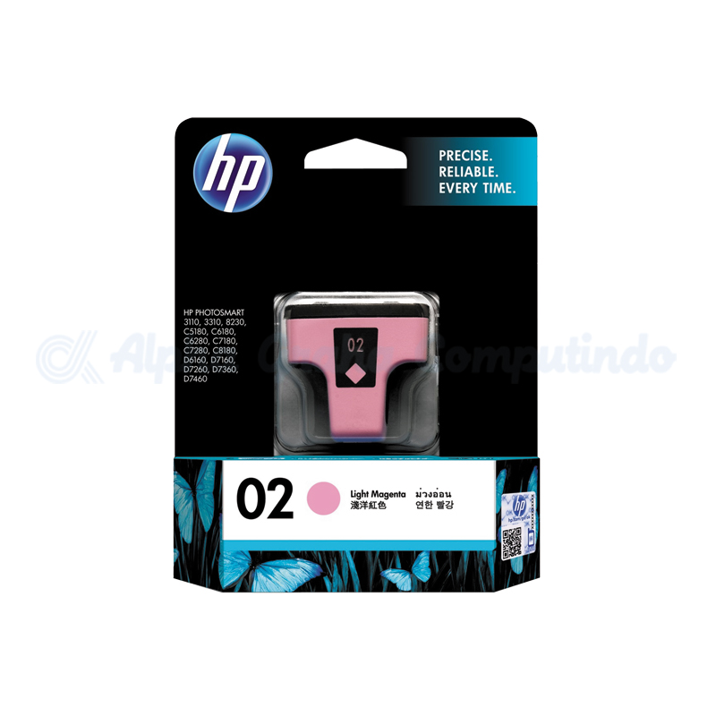HP 02 AP Light Magenta Ink Cartridge [C8775WA]