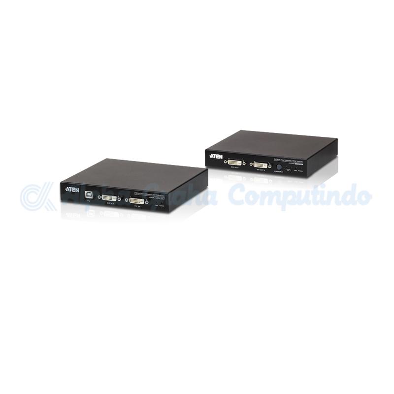 ATEN  USB DVI Dual View HDBaseT 2.0 KVM Extender (1920 x 1200 @100 m) [CE624]