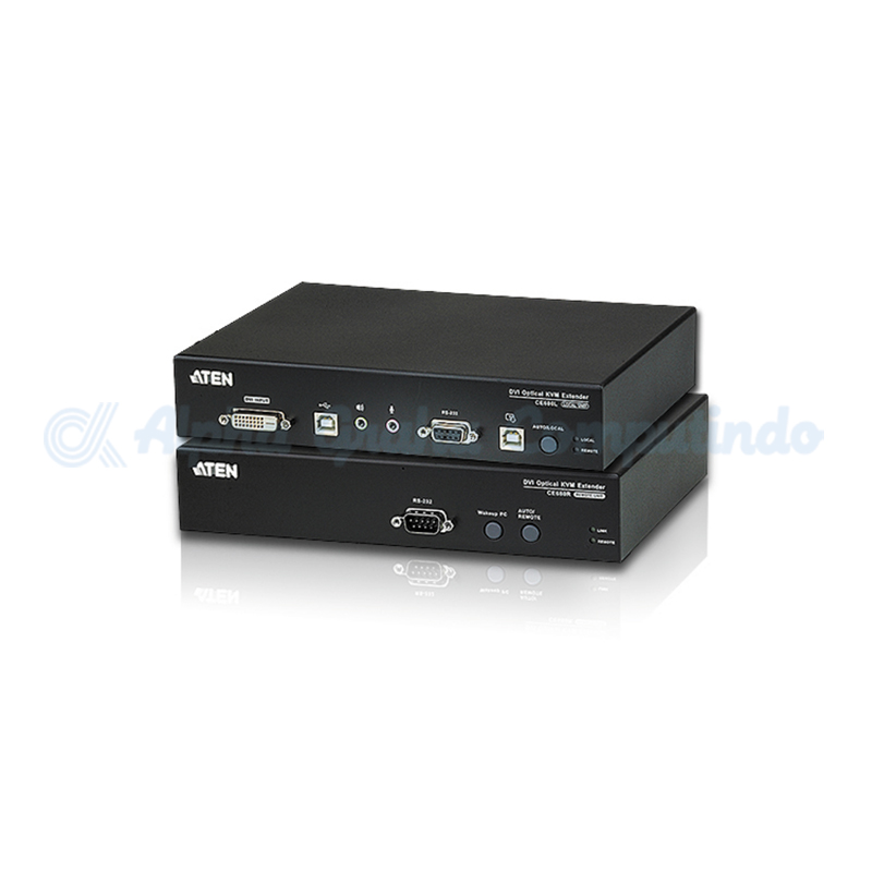 ATEN  DVI Optical KVM Extender. 1920x1200@60Hz (24bits) up to 600m [CE680]
