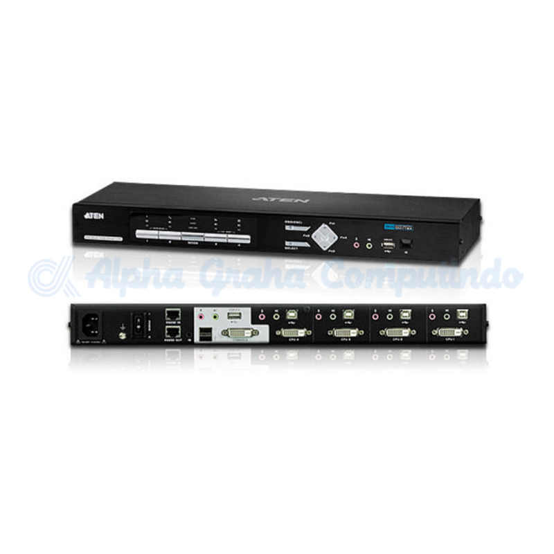 ATEN  4-Port USB DVI Multi-View/Audio KVMP Switch [CM1164]