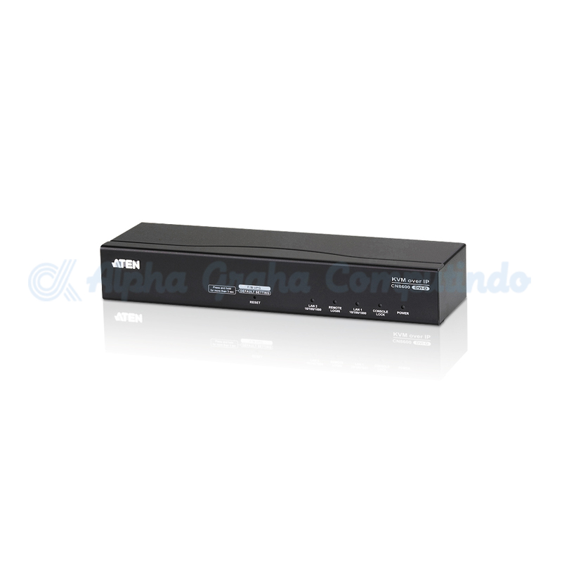 ATEN  DVI KVM Over IP (1 port). Audio/Virtual Media. Smart Card / CACReader [CN8600]