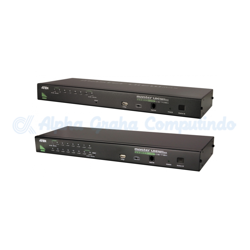 ATEN  1-Local/Remote Share Access 16-Port PS/2-USB VGA KVM over IP Switch [CS1716i-AT-G]