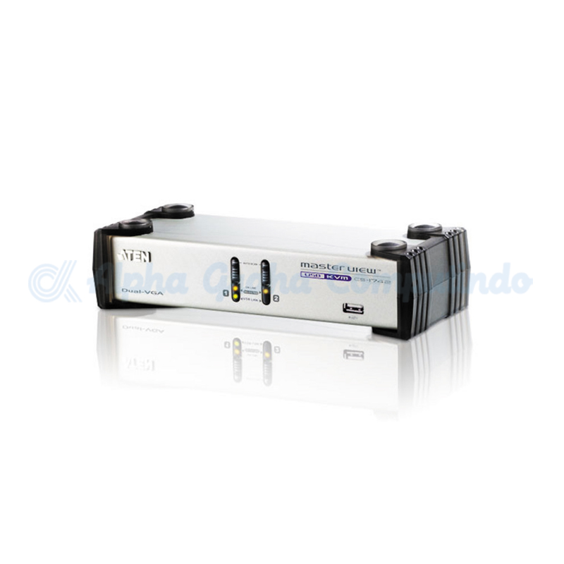 ATEN 2-Port USB VGA Dual Display/Audio KVMP Switch [CS1742]