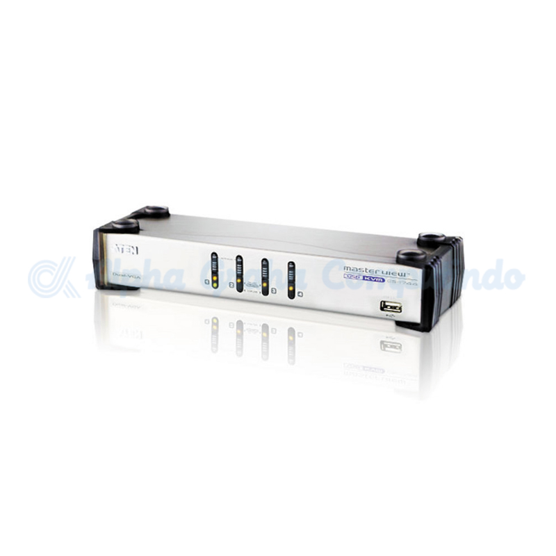 ATEN 4-Port USB VGA Dual Display/Audio KVMP Switch [CS1744]