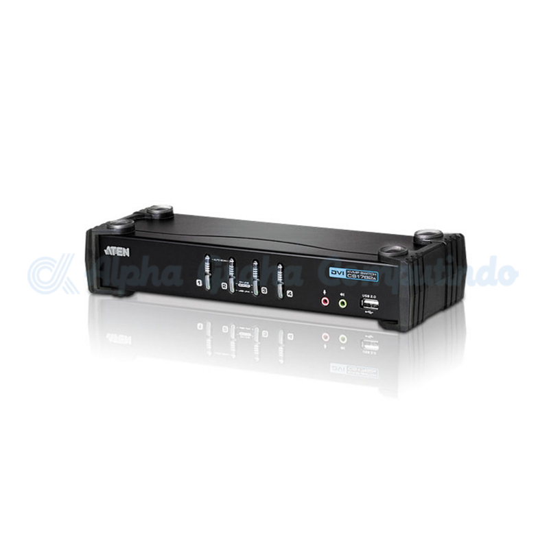 ATEN 4 Port USB 2.0 DVI-I (single link) KVMP [CS1764A]