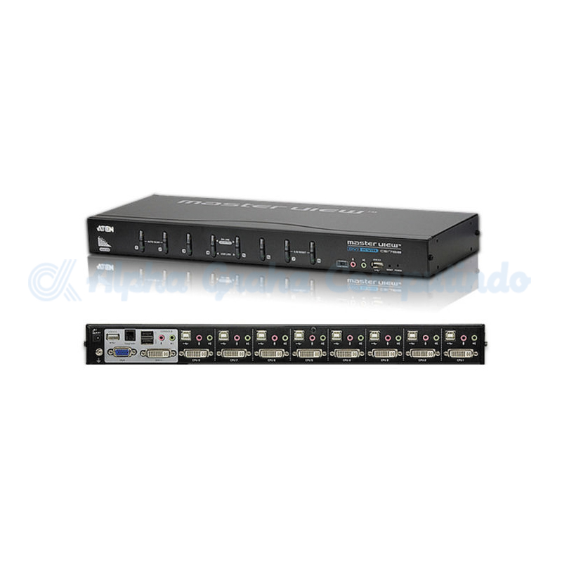 ATEN 8 port USB DVIKVM. Supports Digital (DVI) & analog(VGA) [CS1768]