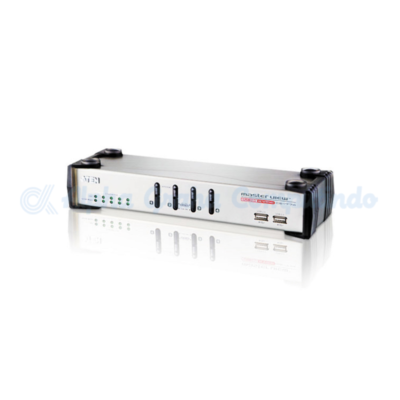 ATEN 4-Port USB VGA/Audio KVME Switch with Ethernet Hub [CS1774]