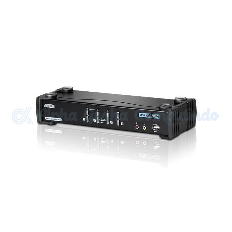 ATEN  4-Port USB DVI Dual Link/Audio KVMP Switch [CS1784A]