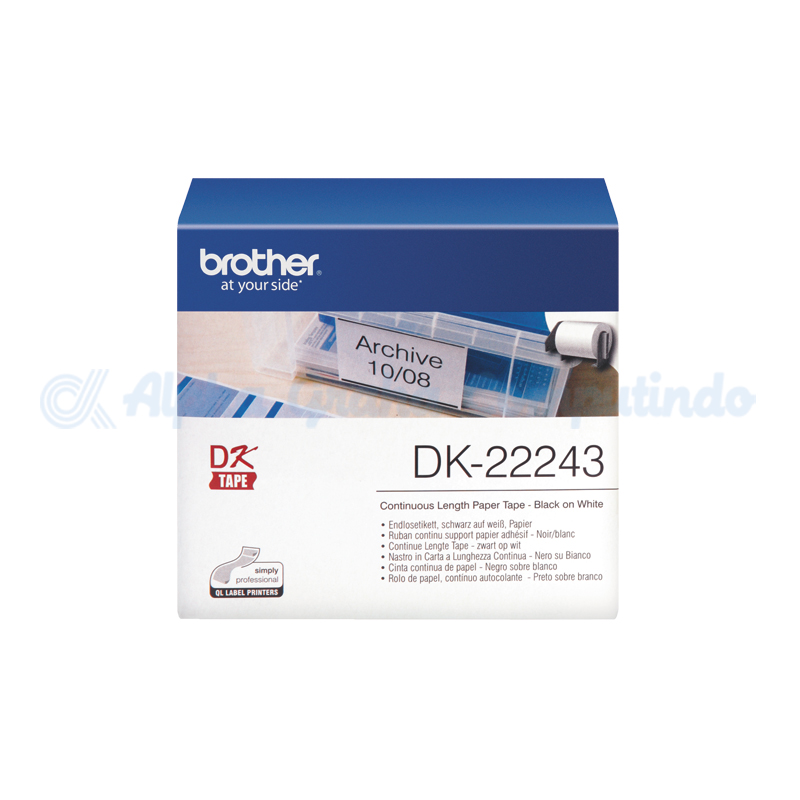 BROTHER  Continuous Length Film Clear Tape [DK-22243]