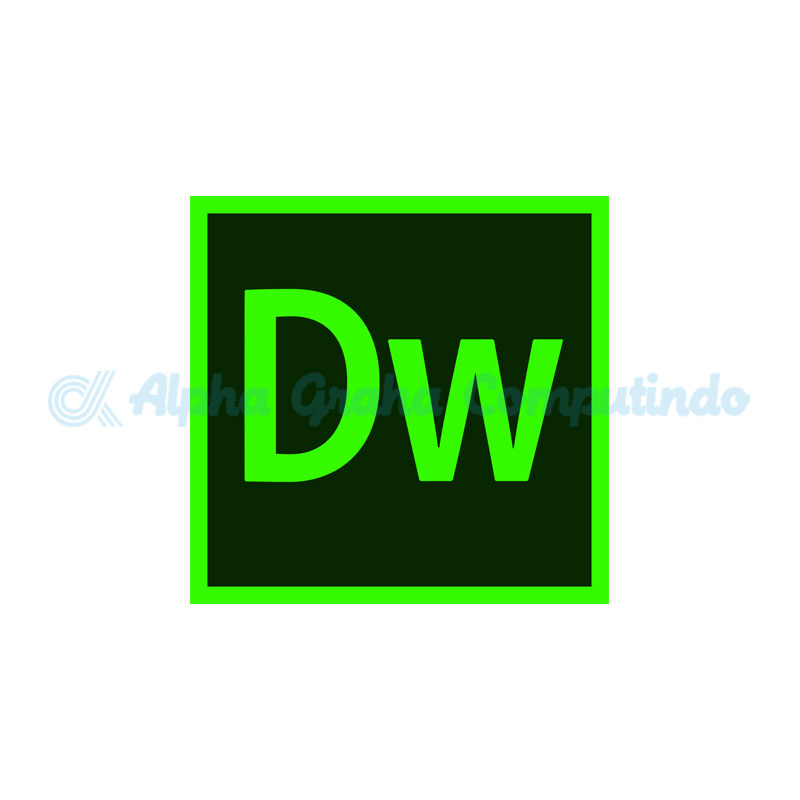 Adobe  Dreamweaver CC for teams 1 Year Subscription Level 1 (1 - 9) GOV [65297793BC01A12]