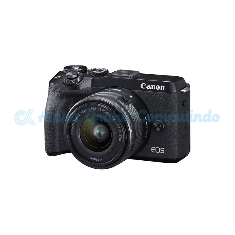 Canon EOS M6 Mark II Black with EF-M15-45mm [EOSM6IILB]