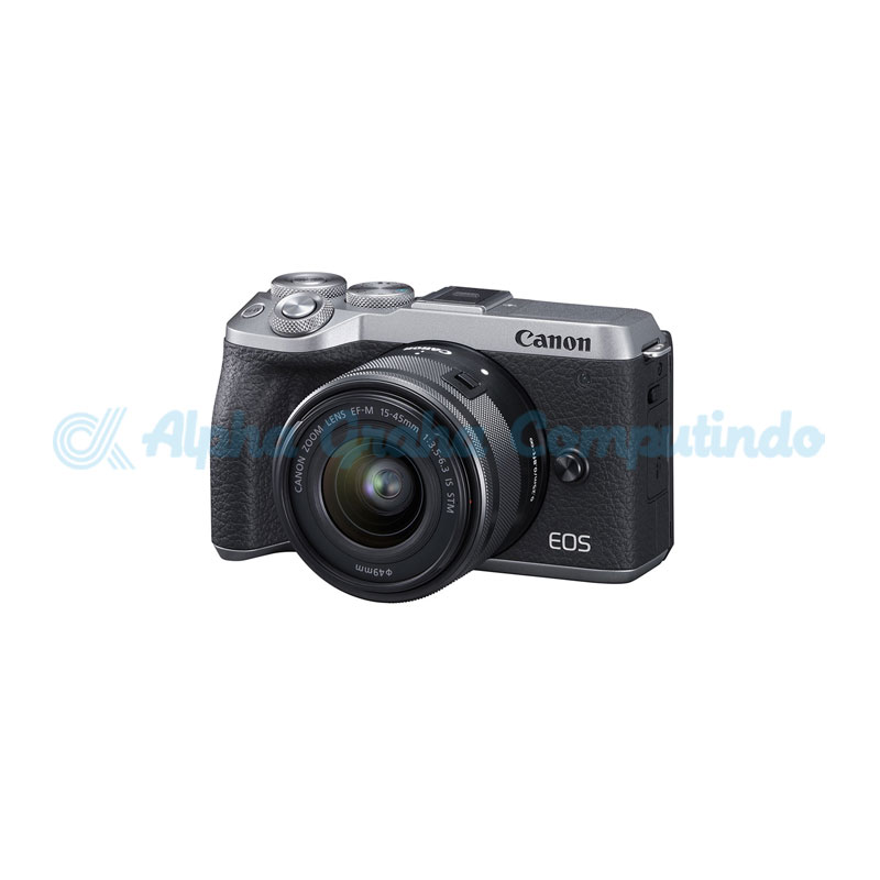 Canon EOS M6 Mark II Silver with EF-M15-45mm [EOSM6IILS]