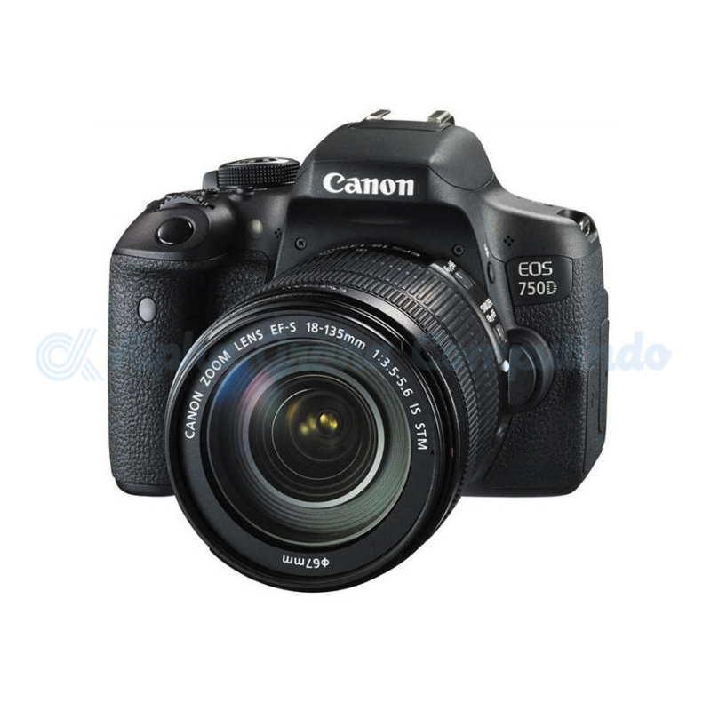 Canon  Digital EOS 750D w/ lens 18-135mm STM Wifi [EOS750DL135]