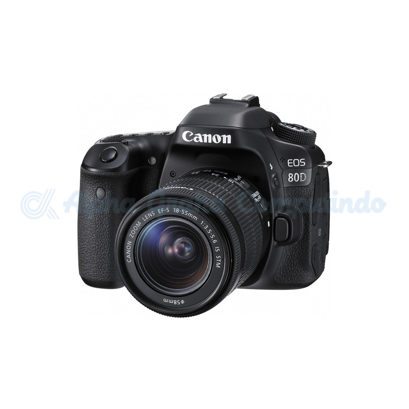 Canon   Digital EOS 80D w/ lens 18-55mm IS STM Wifi [EOS80DL]
