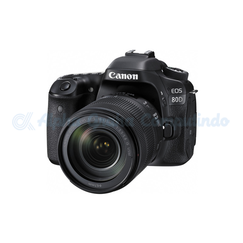 Canon  Digital EOS 80D w/ lens 18-135mm IS USM Wifi [EOS80DL135]
