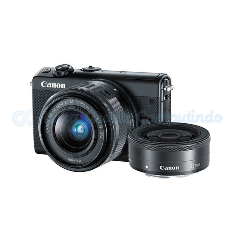 Canon  EOS M100 Black with EF-M15-45mm/22mm [EOSM100-B3]