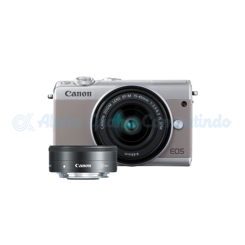 Canon  EOS M100 Grey with EF-M15-45mm/22mm [EOSM100-G3]
