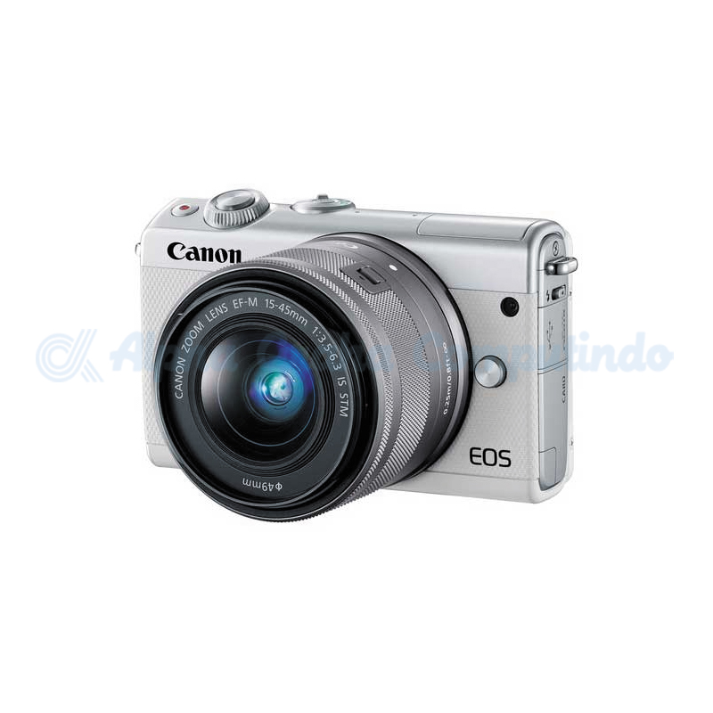 Canon  EOS M100 White with EF-M15-45mm [EOSM100-W1]