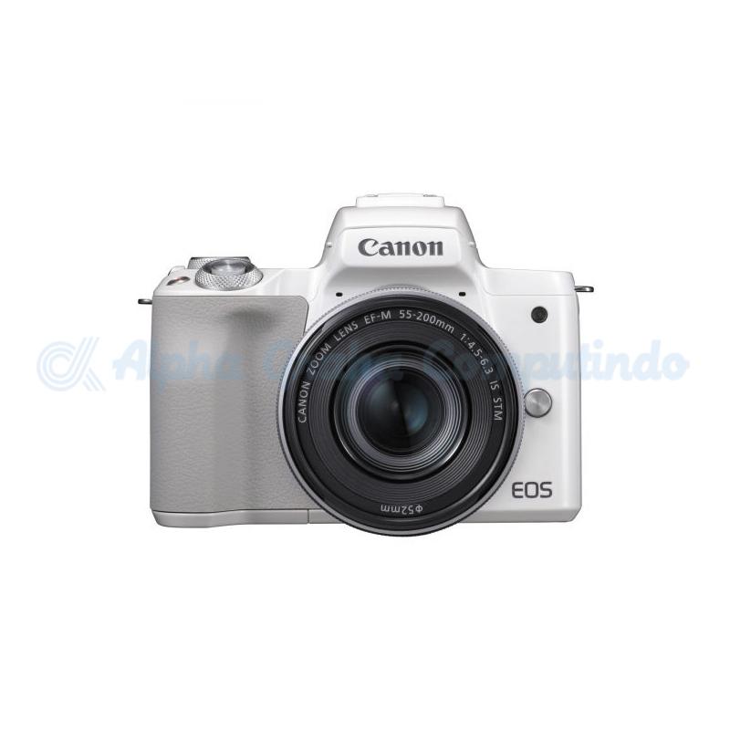 Canon  EOS M50 EF-M15-45mm/55-200mm White [EOSM50L200W]