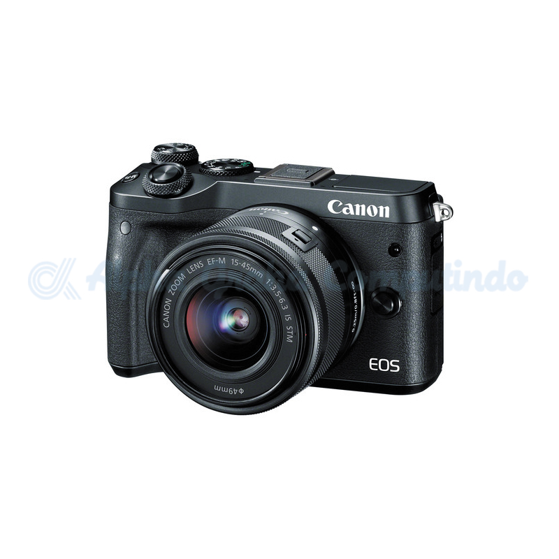 Canon  EOS M6 Black with EF-M15-45mm [EOSM6LB]