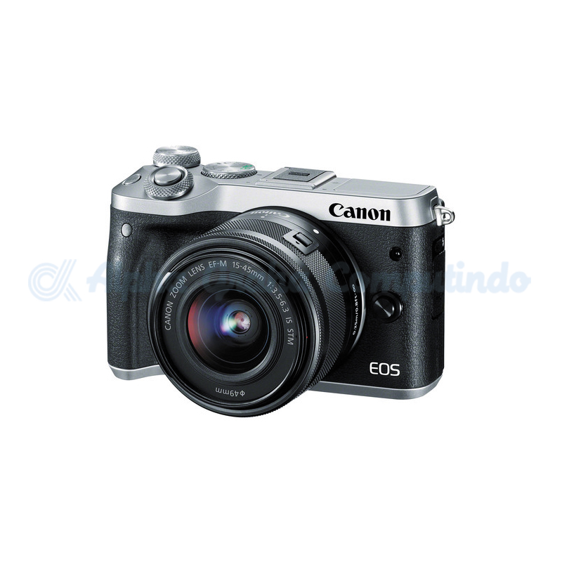 Canon  EOS M6 Silver with EF-M15-45mm [EOSM6LS]