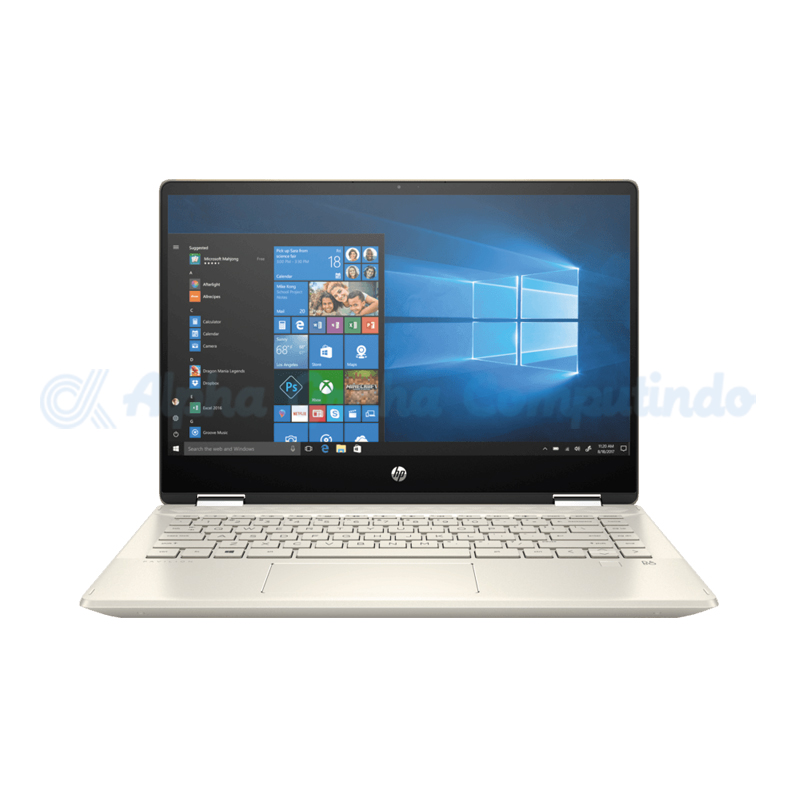 HP  Pavilion x360 14-dh0035TX i3-8145U 4GB 1TB MX130 Warm Gold [6UQ51PA/Win10 Home]