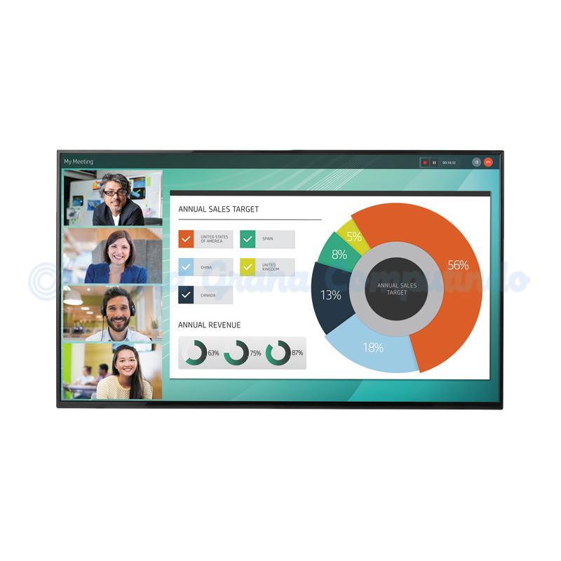 HP  LD5512 4K UHD Conferencing Display [2YD85AA]