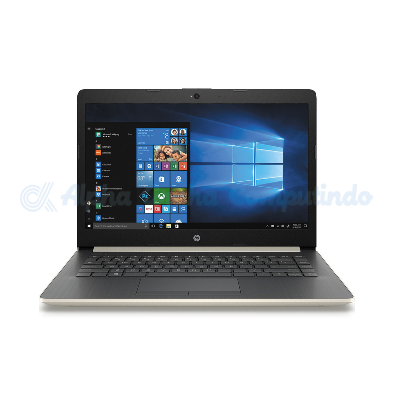 HP Notebook 14-cm0014ax A9-9425 4GB 1TB Radeon 520 14.0-inch [5MX58PA/Win10] Pale Gold