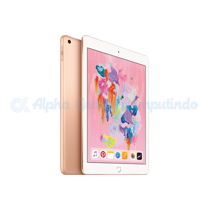APPLE   iPad 6th Gen 9.7 Wifi + Cell 128GB Gold [MRM22PA/A]