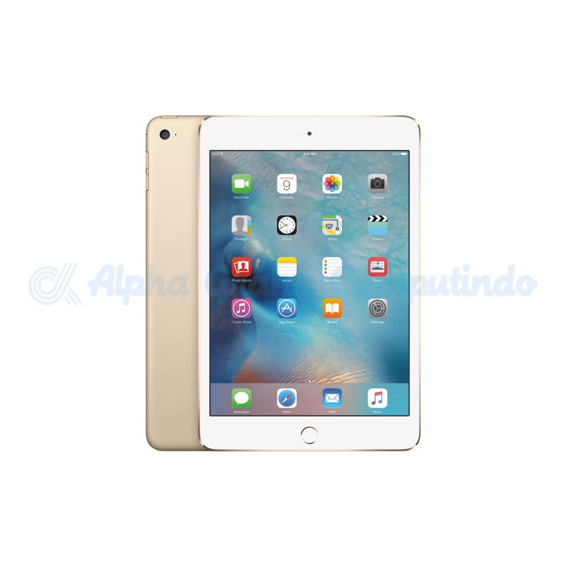 APPLE  iPad Mini 4 Wifi + Cell 128GB Gold [MK782PA/A]