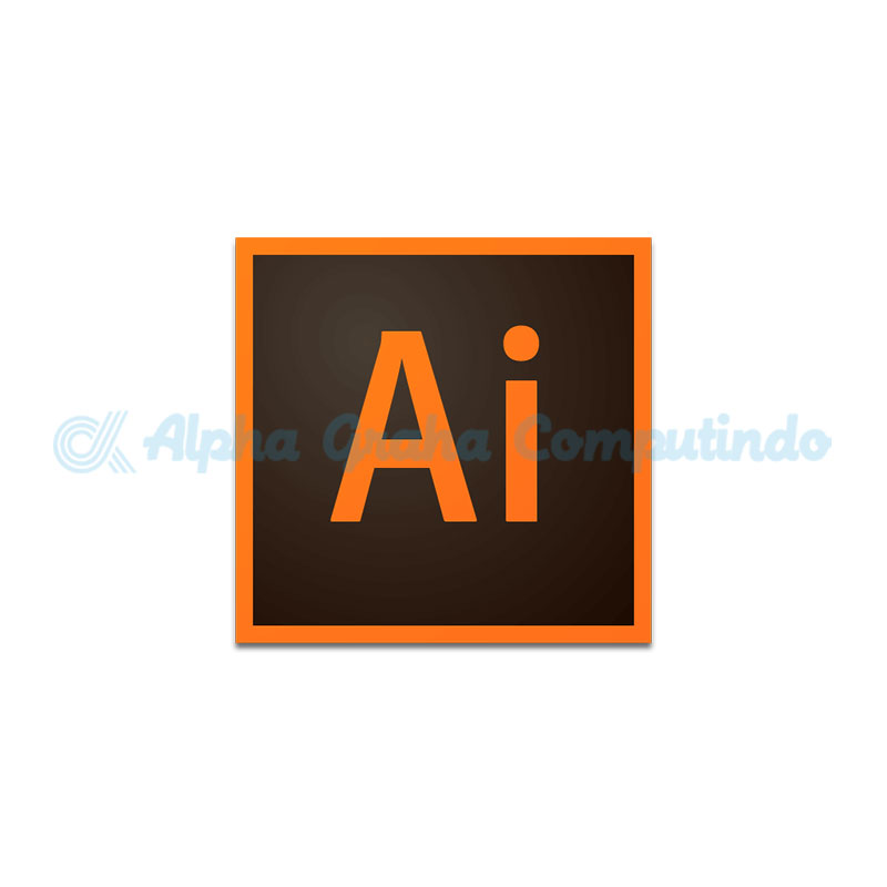 Adobe  Illustrator CC for teams Multiple Platforms 1 Year Subscription Level 1 Gov [65297605BC01A12]
