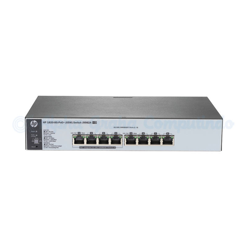 HPE 1820 8G PoE+ (65W) Switch [J9982A]