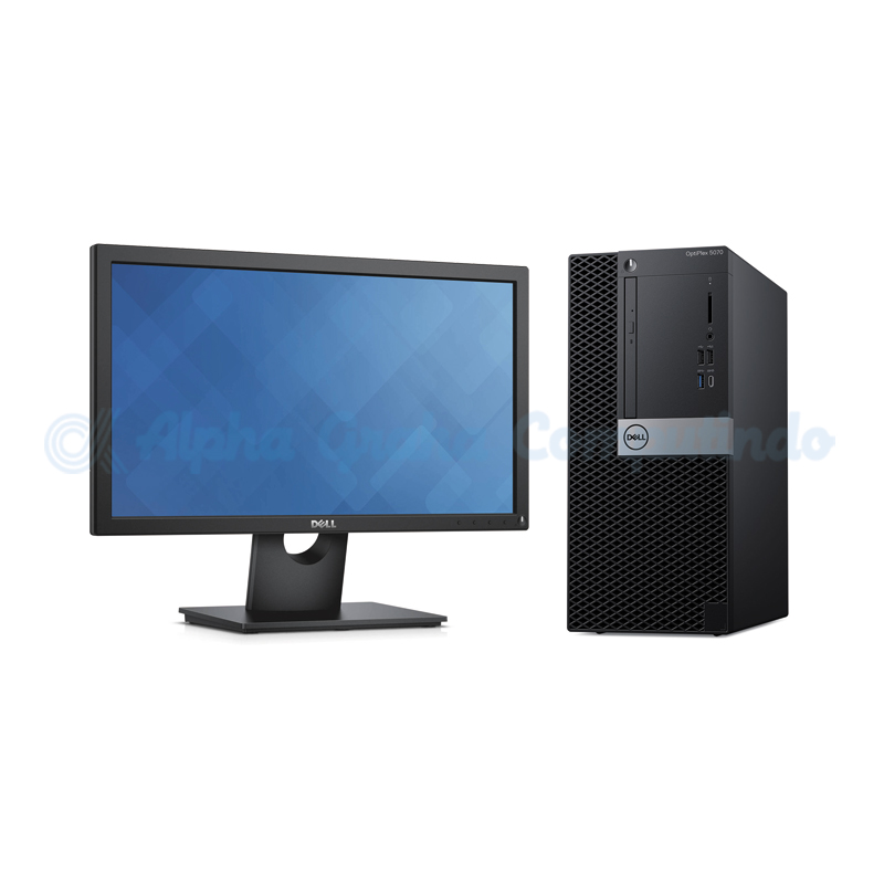 Dell  OptiPlex 5070 MT i5-9500 4GB 1TB 20-inch Monitor Win10 Pro