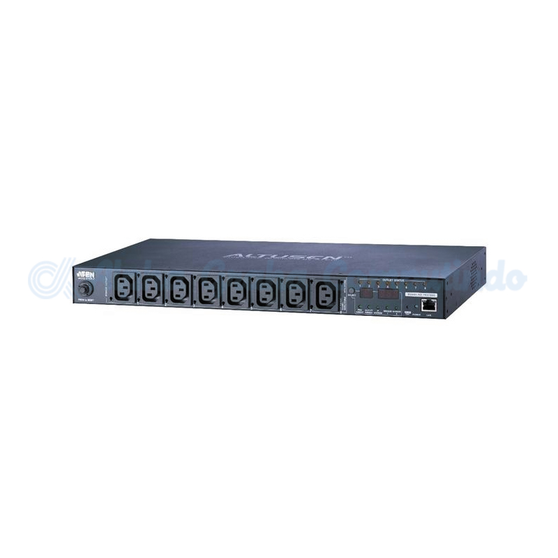 ATEN NRGence eco PDU - 1U 8-port eco PDU(IP). 10A. Safe shutdown(win). Temp & humidity sensors [PE6108G-AX-G]