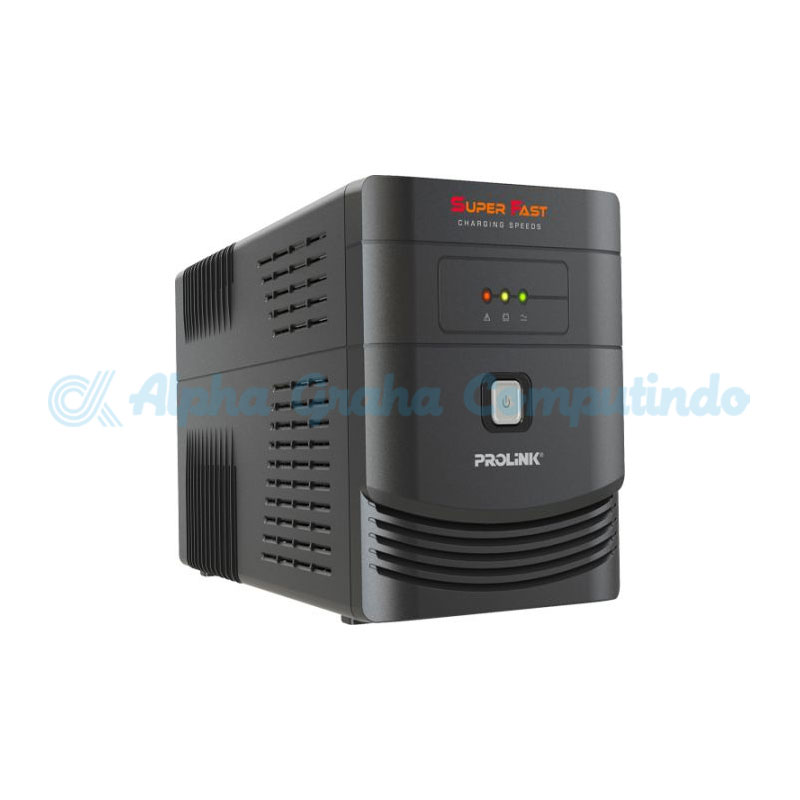 Prolink  PRO700SFCU Line Interactive UPS 650VA with AVR +USB port