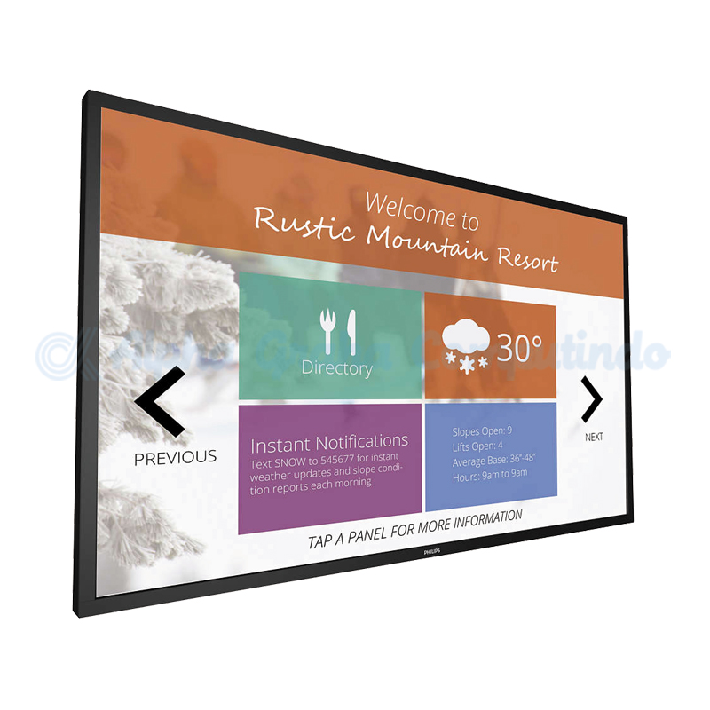 PHILIPS  43-inch Multi Touch Display [43BDL4051T]
