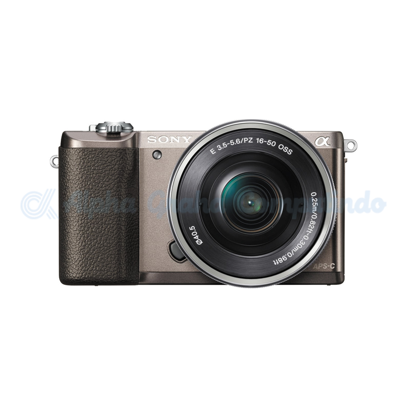 Sony   Alpha a5100 Mirrorless Digital Camera with 16-50mm Lens - Brown [ILCE-5100L]