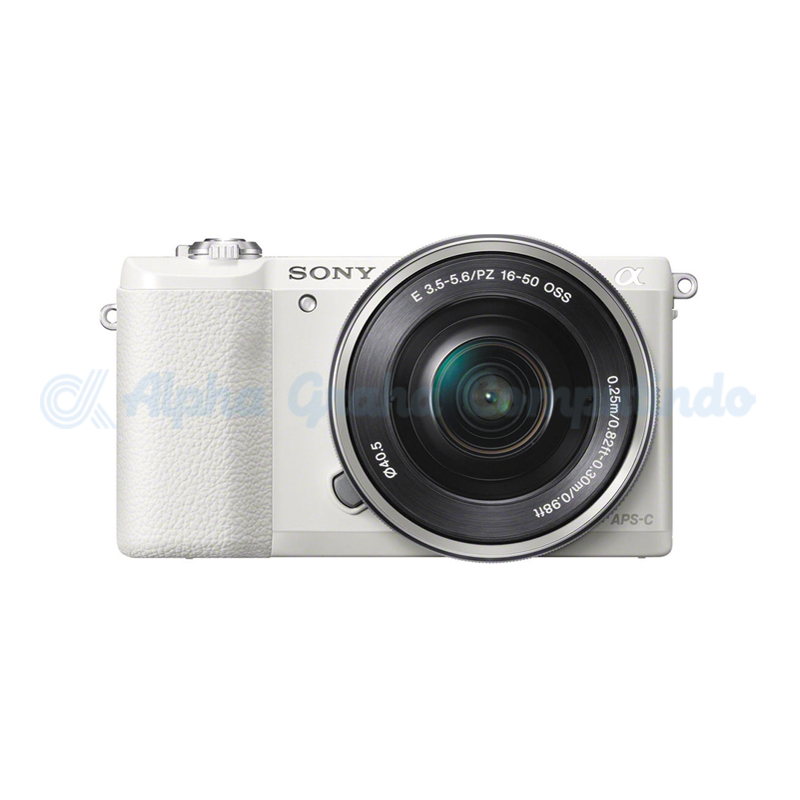 Sony  Alpha a5100 Mirrorless Digital Camera with 16-50mm Lens - White [ILCE-5100L]