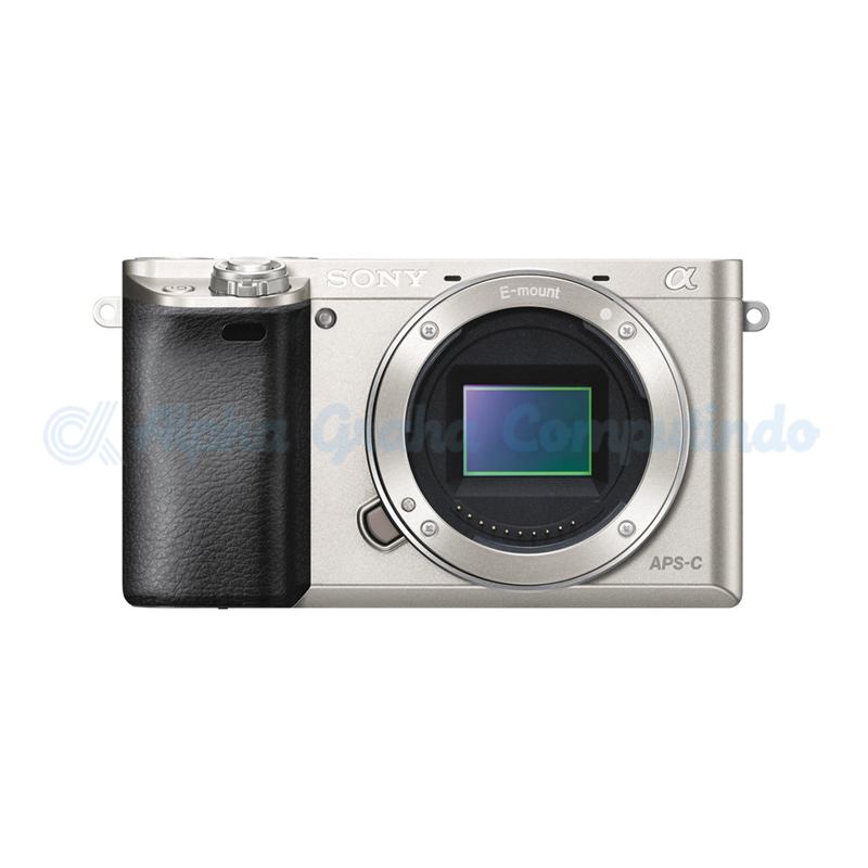 Sony    Alpha a6000 Mirrorless Digital Camera (Body Only) - Silver [ILCE-6000]