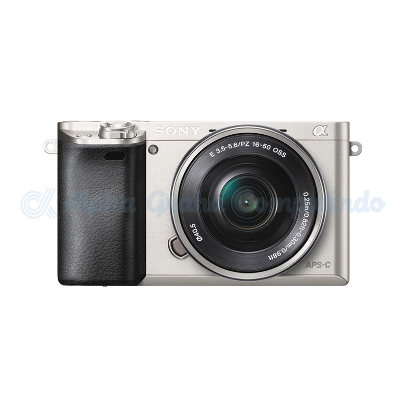 Sony  Alpha a6000 Mirrorless Digital Camera with 16-50mm Lens - Silver [ILCE-6000L]